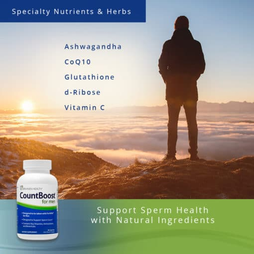 CountBoost for Men - Support Sperm Health w/ Natural Ingredients