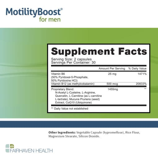 MotilityBoost LS Supplement Facts