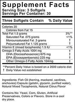 FH PRO Omega 3 Ingredients