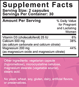 Supplemental Facts PeaPod CalMag